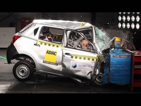 DATSUN GO fails crash test - zero star safety rating