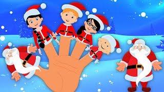 familia dedo santa   canción dedo familia   Santa Finger Family   Christmas Song   Kids Video