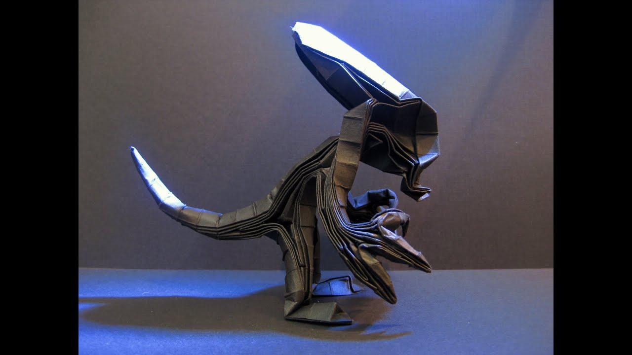 origami alien xenomorph tutorial tim rickman youtube