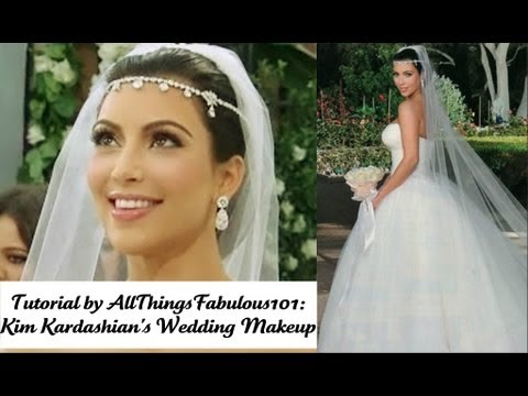 TUTORIAL Kim Kardashian 39s Wedding Makeup
