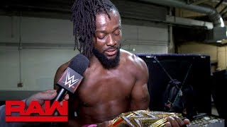 "Kofi Kingston recaps his ""very weird"" night on Raw: Raw Exclusive, May 6, 2019"