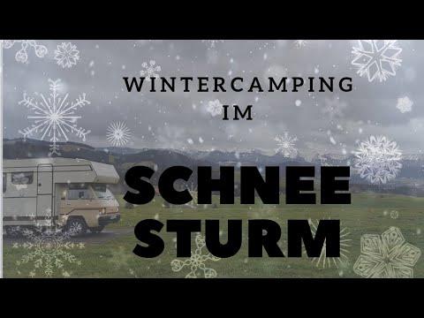 Wintercamping im Schneesturm