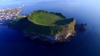 제주도의 아름다운 풍경 항공촬영