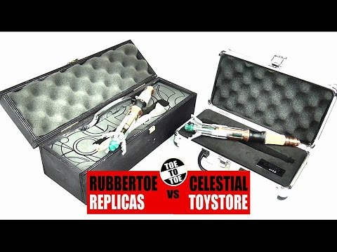RUBBERTOE Vs CELESTIAL TOYSTORE 11th Doctor Sonic Screwdriver Replica   DarkLordSaxon