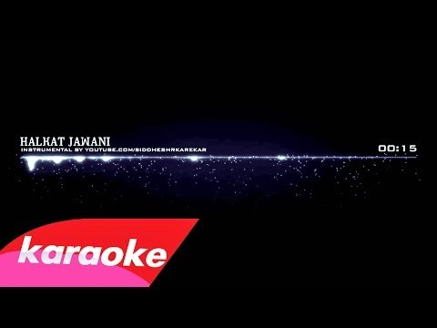 Halkat Jawani - KaraokeInstrumental with Lyrics (from Heroine...