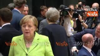 May dialoga con Merkel al vertice Ue
