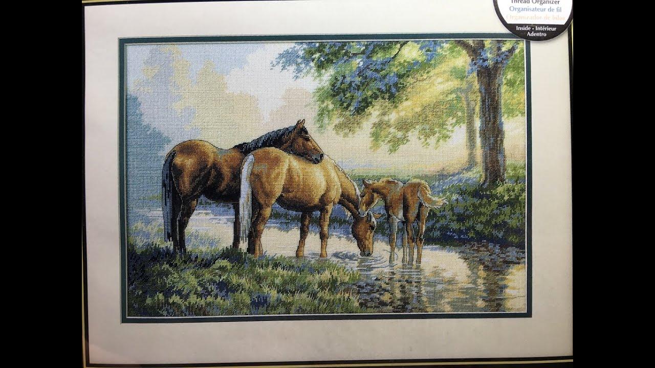 Набор вышивки крестом лошади 95