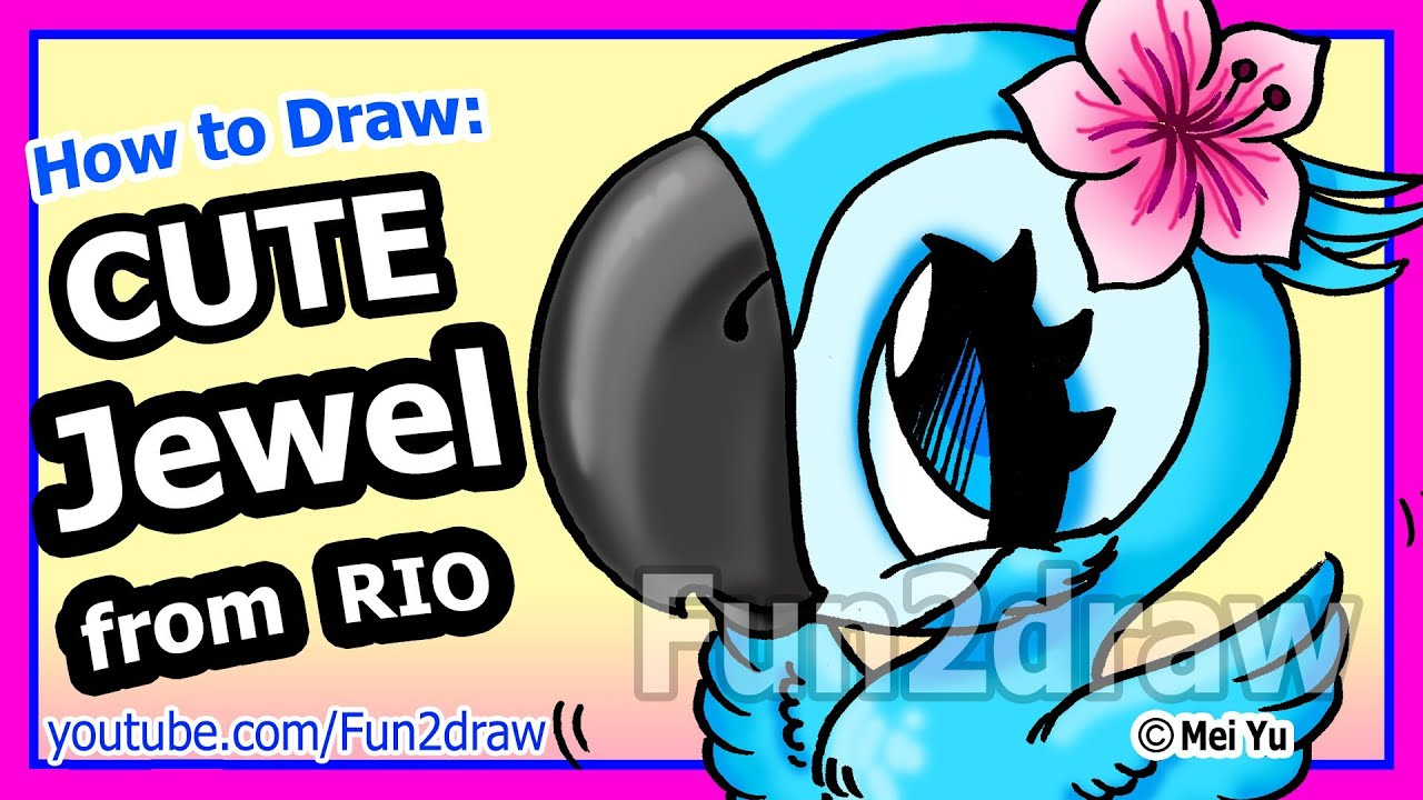 Jewel Rio Drawing How to Draw a Jewel From Rio