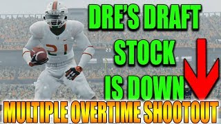 Dre's Draft Stock is Down + Crazy Overtime Thriller!!! NCAA FOOTBALL 14 ROAD TO GLORY