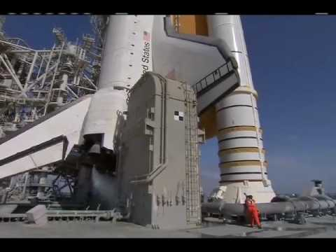Ice Team Inspects NASA's Shuttle Atlantis During STS-132 Launch Countdown