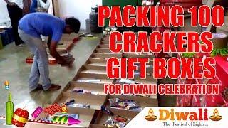 Packing 100 Nos Crackers Gift Box By Easier Method | Diwali Celebration 2018 | Headlines Tv