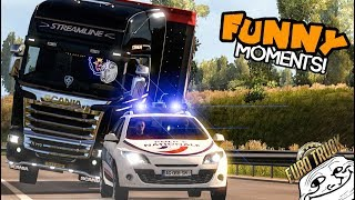 Euro Truck Simulator 2 Multiplayer | Funny Moments & Crash Compilation | #51