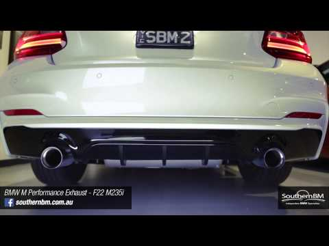 BMW M235i with BMW M Performance Exhaust installed