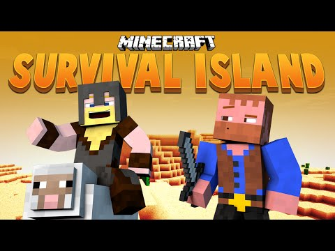 OUR FIRST OCEAN MONUMENT ★ Minecraft Survival Island (12)