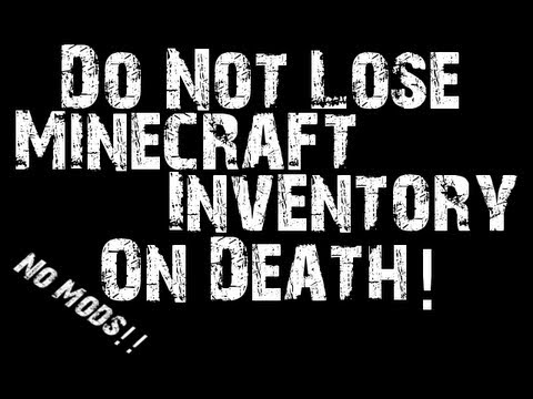 Keep Your Minecraft Inventory When You Die   No Mods!   HD Voice Tutorial