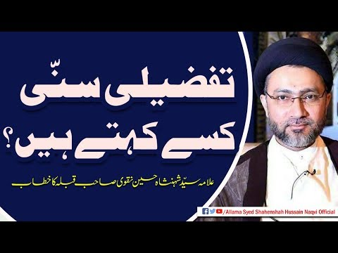 Tafzeeli Sunni Kissey kehte hain by Allama Syed Shahenshah Hussain Naqvi