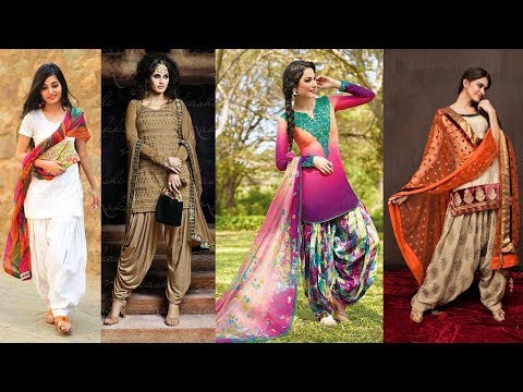 Latest Top Designer Panjabi Patiala Salwar Suit / PANT Boutique Designs 2018 - 2019