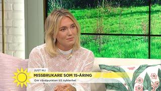 """Josefin började dricka alkohol som 10-åring: """"Jag skämdes extremt över mig själ - Nyhetsmorgon (TV4)"""