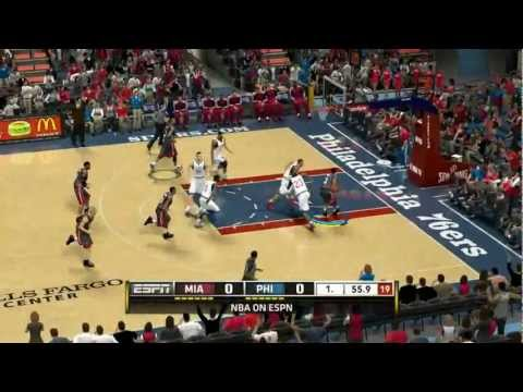 Miami Heat vs. Philadelphia 76ers 98-94 | Wells Fargo Center 03/13/2013 | NBA 2k13