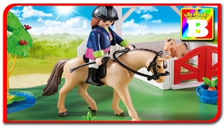 New Playmobil Country 6147.  Ferma playmobil de cai animalele domesticie si sunetele lor unboxing .