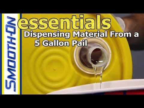 How To Open And Dispense A 5 Gallon Pail Of Material Youtube