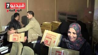 بالفيديو.. فرحة وزغاريط للسيدات المعيلة والغارمات خلال توزيع ماكينات الخياطة