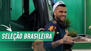 SELEÇÃO BRASILEIRA TREINA NA ACADEMIA DE FUTEBOL