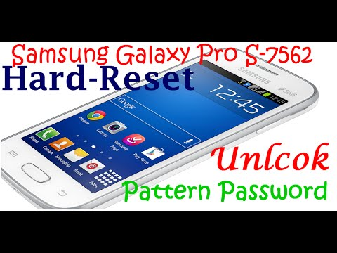 How To Hard Reset Samsung Galaxy Star Pro S7262   Unlock Google Pattern Lock Samsung S7262