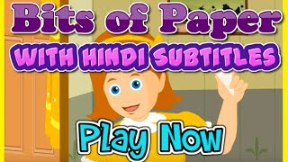 Bits of Paper with Hindi Subtitles - Nursery Rhymes & Songs in HD