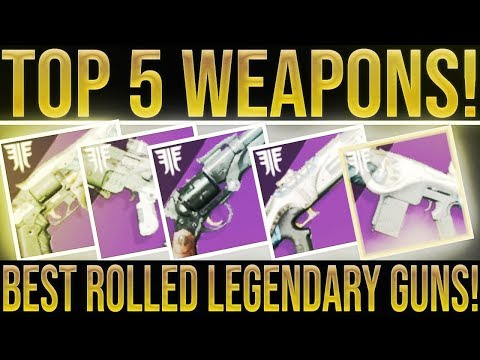 Destiny 2 Forsaken. TOP 5! (My Best Rolled Weapons & How To Get Them) Unlimited Mod Components! thumbnail