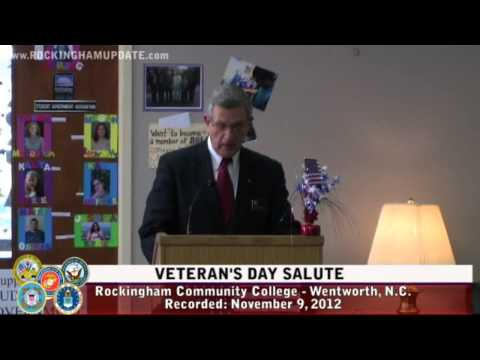 Veteran's Day Salute - Rockingham Community College - 11/9/12