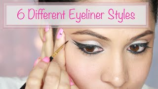 6 Ways to wear Eyeliner : Makeup Tutorial