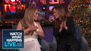 Jennifer Lopez Shades Leah Remini S Cooking Wwhl