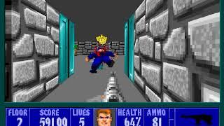 PC GAME懷舊-德軍總部 Wolfenstein 3D-ep3-Floor 2