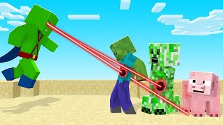 Using ALIEN LASER VISION In Minecraft! (super strong!)