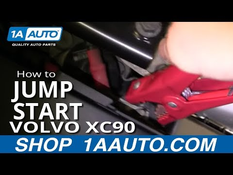How to Jump Start where is the Battery on a Volvo XC90