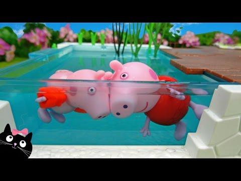 Peppa Pig de Vacaciones en la Casa de Calico Critters con Piscina de Playmobil - Juguetes Peppa Pig