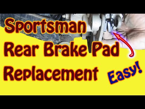 How to Replace Rear Brake Pads on a 2003 Polaris Sportsman 500 ATV - DIY