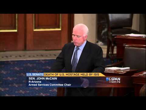 "Sen. John McCain: ""She will never be forgotten."" (C-SPAN)"