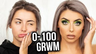 0 - 100 CHATTY GET READY WITH ME!  FULL GLAM MAKEUP TUTORIAL FEAT. JEFFREE STAR ALIEN PALETTE