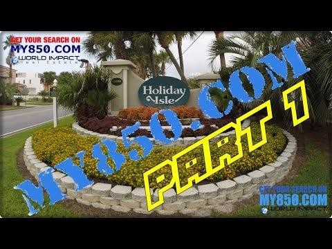 Holiday Isle Tour Destin Florida Part 1 - Gulf Shore Drive