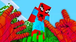 REALISTIC MINECRAFT - STEVE BECOMES SPIDER MAN!