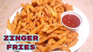 Zinger Fries_Super crispy and coated french fries_How to make spicy and crispy french fries