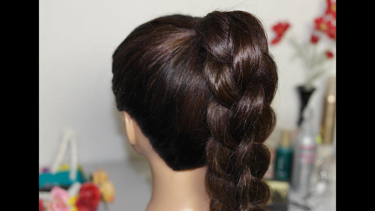 Причёска своими руками на длинные волосы из кос