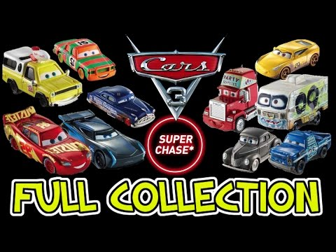CARS 3 FULL COLLECTION OF MATTEL DIECAST TOYS WAVE 1 2017 IMAGES