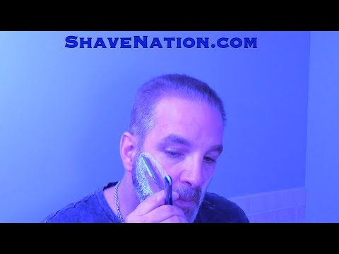 HOW TO TRIM & LINE UP SHAVE BEARD MUSTACHE GOATEE STRAIGHT RAZOR SHAVING TUTORIAL ShaveNation.com