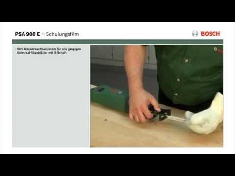 Tutorial: Säbelsäge PSA 900 E von Bosch