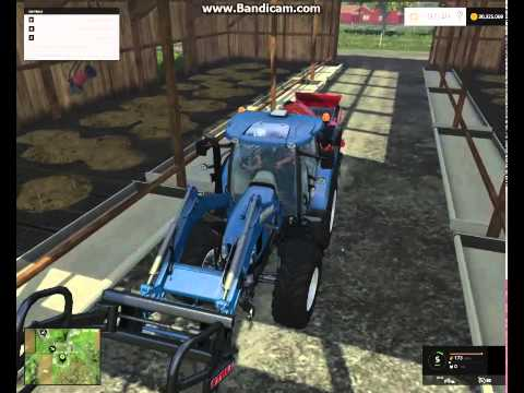 Farming Simulator 2015 | ep.3 | Feeding cows (grass and straw) | Hranjenje krava
