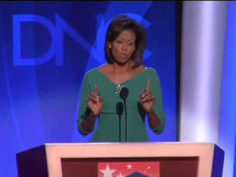 Michelle Obama at the 2008 DNC