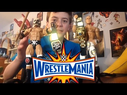 WWE Wrestlemania 33 Triple H & Shawn Michael's action figures